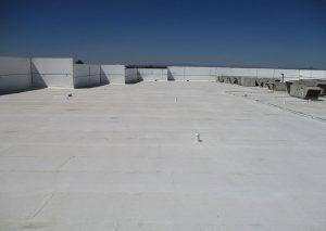 Ecodur Castagra on asphalt roof