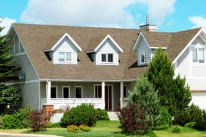 a home with asphalt shingles