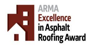 ARMA Excellence in Asphalt Roofing Award logo