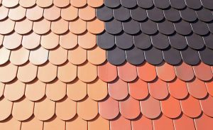 A variety of roof shingle colors