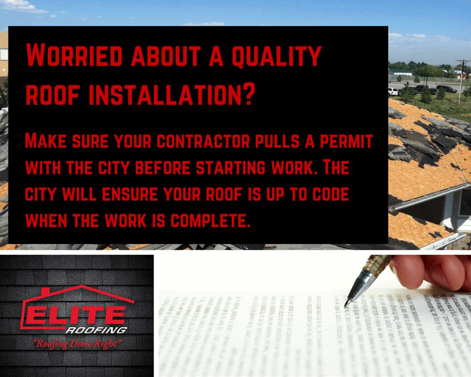 Make Sure Your Roofer Pulls A Permit Elite Roofing Denver Roofers